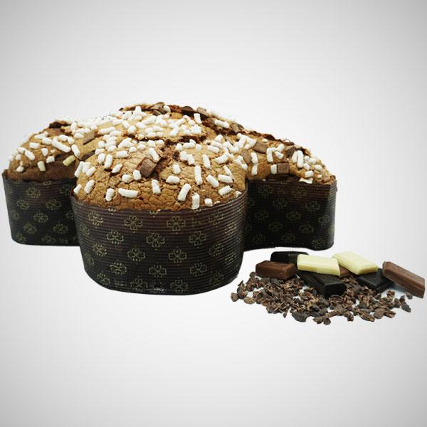 Colomba Tre Cioccolati e fave di Cacao